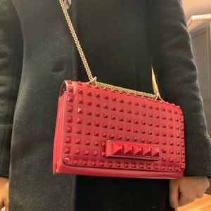 Valentino red purse lightly used good as new